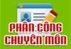 PHÂN CÔNG CHUYÊN MÔN NĂM HỌC 2019-2020
